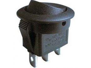 Prepínač kolískový RS102-8C, ON-ON 1pol.černý 250V / 6A