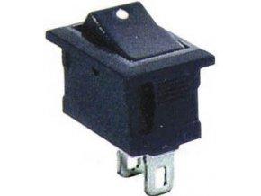 Prepínač kolískový smršte-101-1, OFF-ON 1pol.250V / 1A čierny