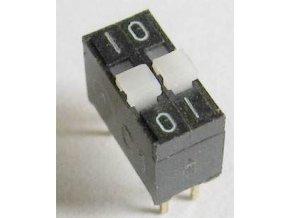 DIP spínač 2x TESLA TS501 21 23, radenie 01-10 * spriahnuté
