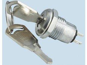 Prepínač s kľúčom OFF-ON 125V / 1A