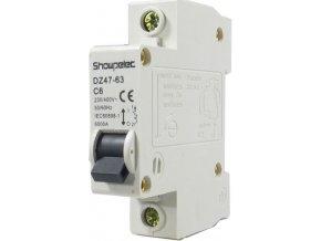 Istič Showpelec DZ47-63 C6, 230V / 6A / C 1fázový na DIN lištu