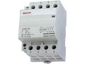 Stýkač CJX3-25 230V / 25A 4P na DIN lištu