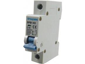 Jistič Showpelec SPB1-63 C16, 230V/16A/C 1fázový na DIN lištu