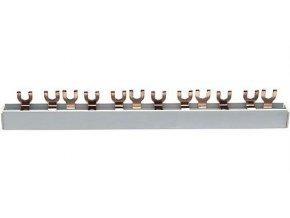 Prepojovacia lišta k ističom 3 pólová, 3x4kontakty, 3x63A /, l = 21cm