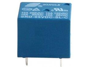 Relé Songle SRD-05VDC-SL-C 5V, prepínací kontakt 250VAC / 10A