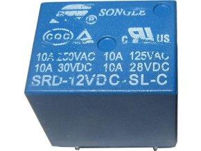 Relé Songle SRD-12VDC-SL-C 12V, prepínací kontakt 250VAC / 10A