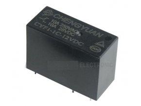 Relé CYF1-1C-12VDC 12V, kontakt 250VAC / 10A