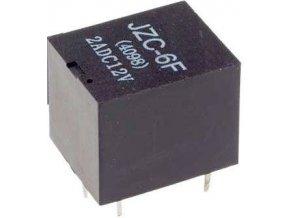 Relé JZC-6F (4098) 12V, kontakty 28VDC / 2A (230VAC / 1A)