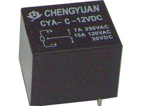 Relé CHYRC CYA-C 12VDC, 1x přepín.kontakt 250V / 7A