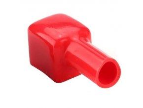 Ochranná krytka na svorku batérie červená, veľkosť 16x16x14mm