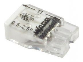 Svorka Wago 2273-202, 0,5 - 2,5 mm2, 2pólová, transparentná / biela