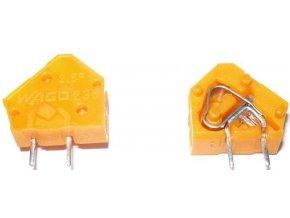 Svorka Wago 236, 0,5 - 2,5 mm2, oranžová
