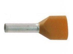 Dutinka pre dva káble 0,5mm2 oranžová (TE0,5-8)