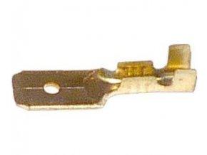 Faston-konektor 6,3 mm neizolovaný, kábel do 1,5mm2