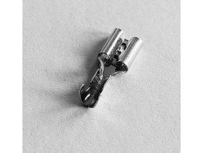 Faston-zdierka 4,8mm neizolovaná, kábel do 1mm2