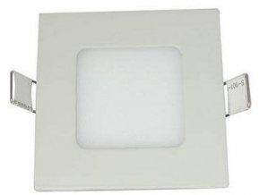 Podhľadové svetlo LED 3W, 90x90mm, teplé biele, 230V / 3W, vstavané