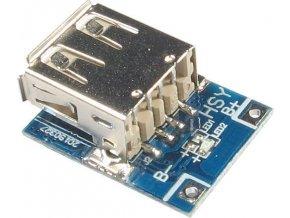 Napájací modul, step-up menič 5V + nabíjačka Li-Ion