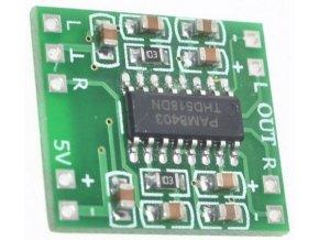 Zosilňovač triedy D 2x3W, modul PAM8403