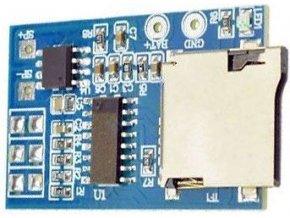 Prehrávač MP3 s nf zosilňovačom 2W, základný modul