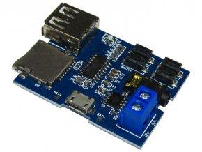 Prehrávač MP3 s nf zosilňovačom 2W, rozšírený modul