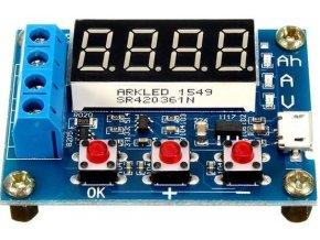 Tester článkov a batérií HW-586 - merač kapacity do 9999Ah
