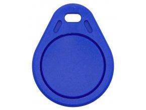 RFID prístupový čip 13,56MHz prepisovateľný, prívesok, modrý