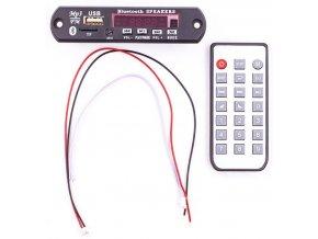 FM rádio, přehrávač MP3 s bluetooth, dálkové ovládání