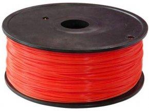 Tlačová struna 1,75mm červená, materiál ABS, cievka 1kg / 3D tlač /