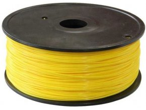 Tlačová struna 1,75mm žltá, materiál ABS, cievka 1kg / 3D tlač /