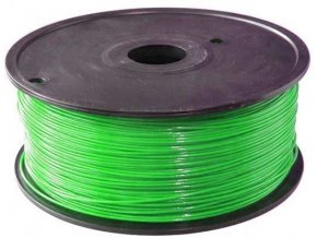 Tlačová struna 1,75mm zelená, materiál ABS, cievka 1kg / 3D tlač /