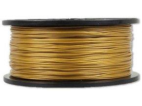 Tlačová struna 1,75mm zlatá, materiál ABS, cievka 1kg / 3D tlač /