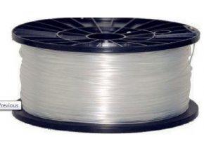 Tlačová struna 1,75mm natural - číra, materiál ABS, cievka 1kg / 3D tlač