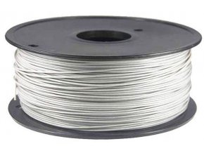 Tlačová struna 1,75mm biela, materiál PLA, cievka 1kg / 3D tlač /