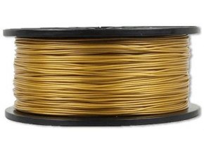 Tlačová struna 1,75mm zlatá, materiál PLA, cievka 1kg / 3D tlač /