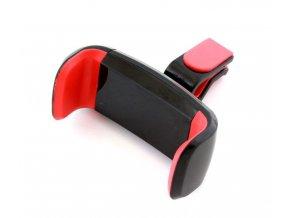 Univerzálny držiak mobilného telefónu do mriežky ventiláciu, BLACK / RED