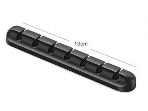 Organizér káblov samolepiace pre 7 káblov, silikónový