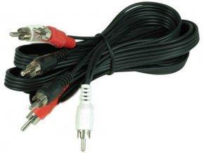 Kábel 3xCinch-3xCinch, 1,5m