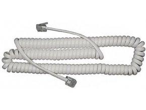 Telefónny kábel krútený biely 5m (4P4C) RJ10