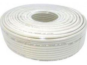 Koax 75ohm RG6-U, 6,8 mm, biely, balenie 100m