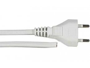Flexo s voľným koncom 2x0,5mm 2m biela