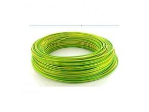 Vodič H07V-U CY drôt 1,5mm2 zelenožltý