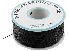 Vodič - drôt 0,05mm2 Cu, čierny, balenie 230m