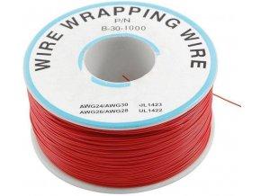 Vodič - drôt 0,05mm2 Cu, červený, balenie 230m