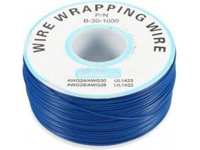 Vodič - drôt 0,05mm2 Cu, modrý, balenie 230m