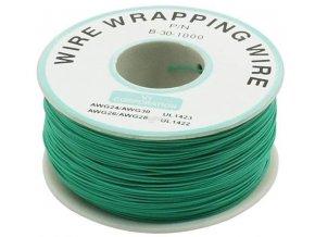 Vodič - drôt 0,05mm2 Cu, zelený, balenie 230m