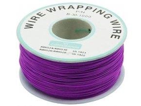 Vodič - drôt 0,05mm2 Cu, fialový, balenie 230m