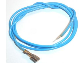 Vodič-lanko 0,75mm2 modrý s fastony, dĺžka 80cm