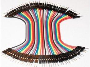 Prepojovacie vodiče dupont 40pin, l = 10cm, samec-samec