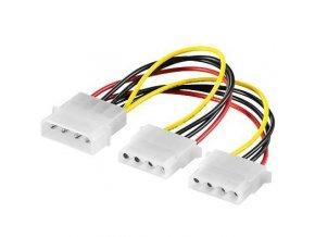 """Napájací kábel k HDD 5,25 """"na 2 x 5,25"""""""
