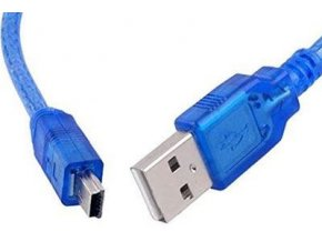 Kabel USB 2.0 konektor USB A / MINI-USB B (5 pinů) 1m